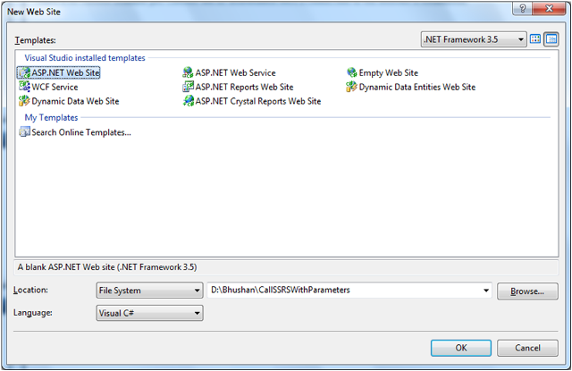Call SSRS Report With Parameters From ASP.NET-2