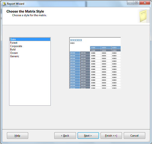 Create Matrix Report in SSRS-12