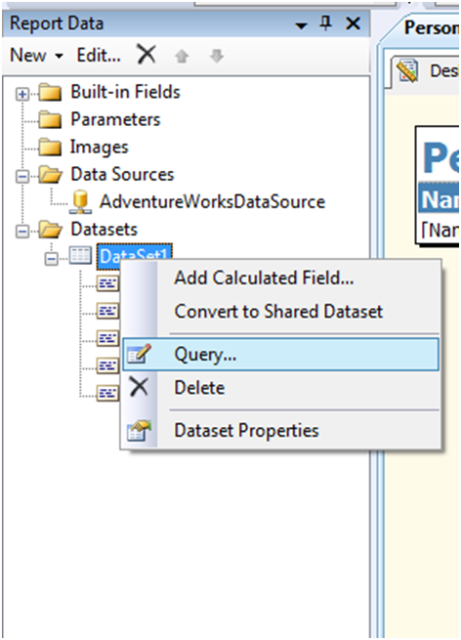 Create SSRS Report With Parameters-1