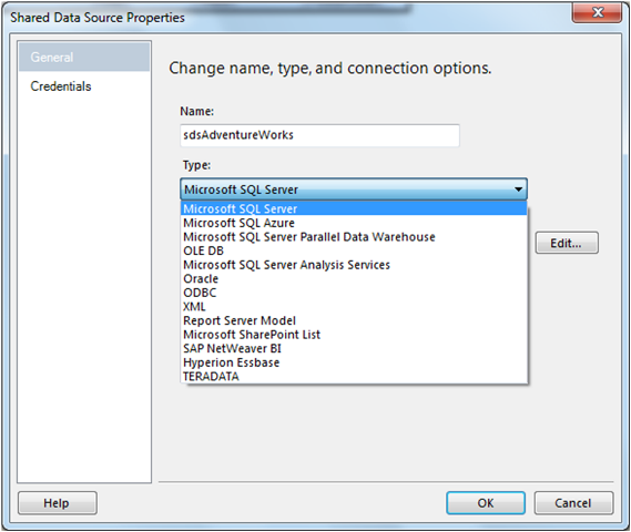 Create Shared Data Source in SSRS-3