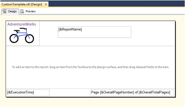 Custom Report Template in SSRS-7