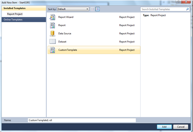 Custom Report Template in SSRS-8