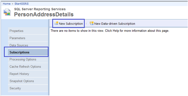 4-Report Subscription(Windows File Share Delivery) in SSRS