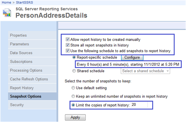 5-Report Snapshots in SSRS