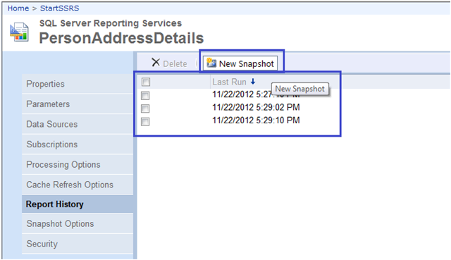 6-Report Snapshots in SSRS
