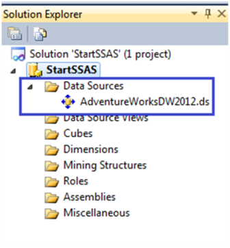 12-Create a Data Source in SSAS
