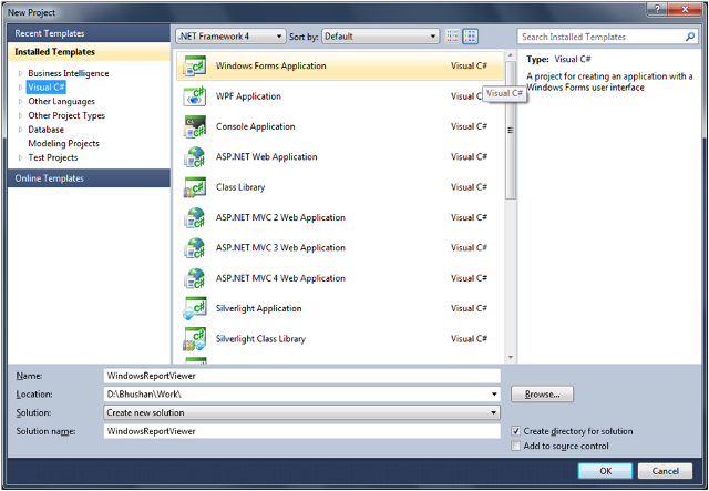 2-Use Report Viewer Control to View SSRS Report in Windows Application