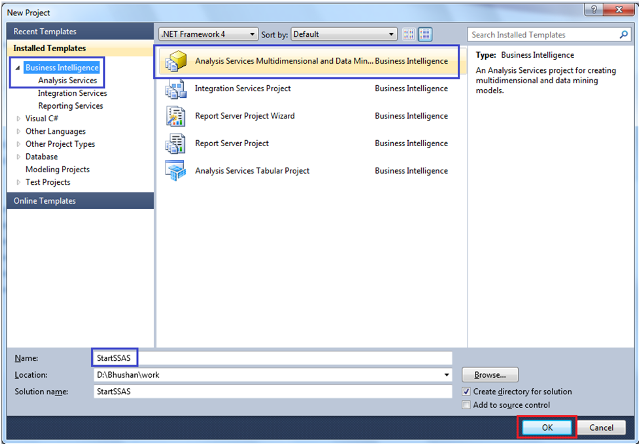 3-Create a Data Source in SSAS