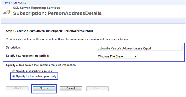 3-Data-Driven Subscriptions in SSRS