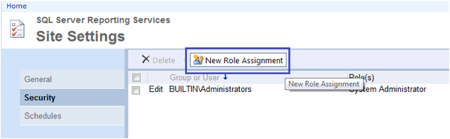 3-User Roles and Permissions in SSRS