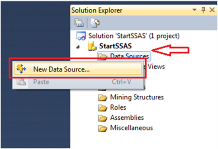 5-Create a Data Source in SSAS