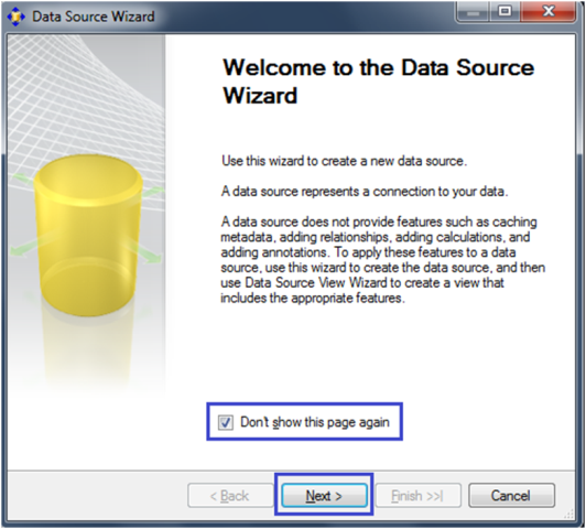 6-Create a Data Source in SSAS