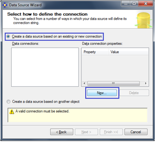 7-Create a Data Source in SSAS