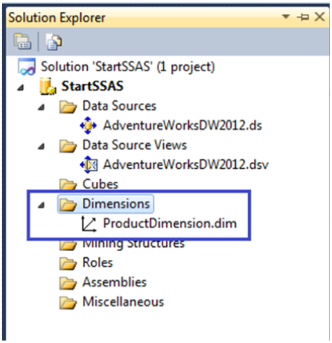 10-Create a Dimension in SSAS