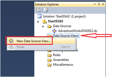 2-Create a Data Source View in SSAS