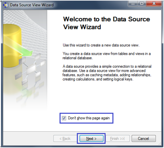 3-Create a Data Source View in SSAS