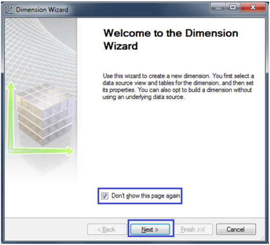 3-Create a Dimension in SSAS