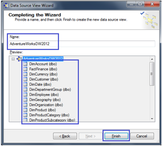 9-Create a Data Source View in SSAS