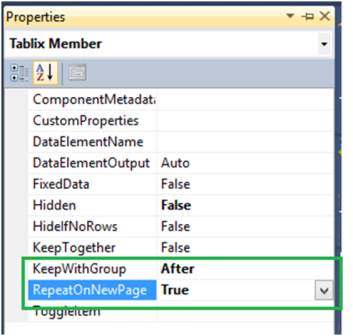 3-Repeat Table Header on Each Page in SSRS