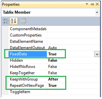 4-Repeat Table Header on Each Page in SSRS