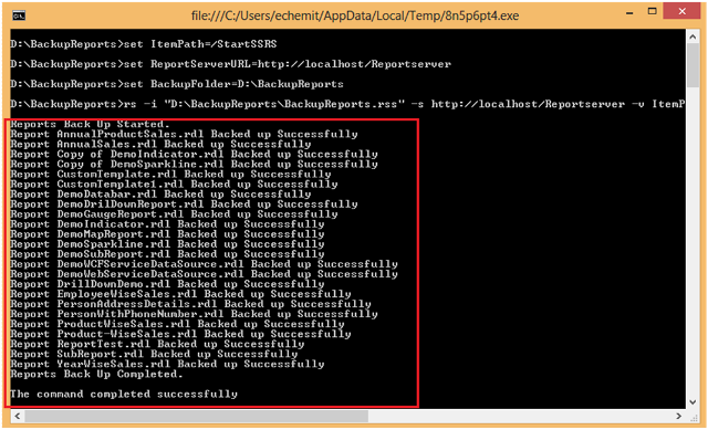 6-Back Up of SSRS Reports using RS Utility