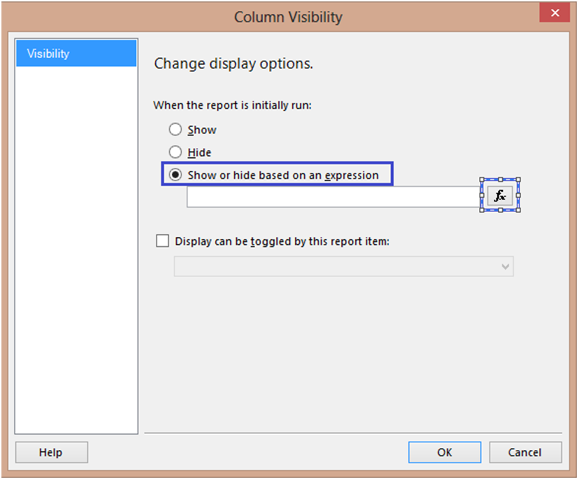 6-Conditionally Setting Column Visibility in SSRS