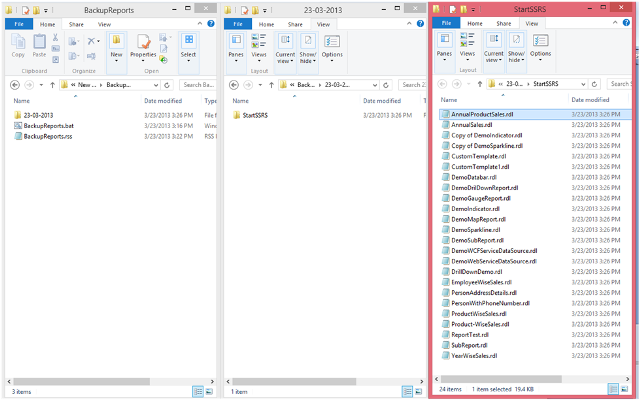 7-Back Up of SSRS Reports using RS Utility