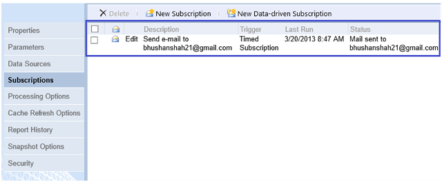 7-Email Subscriptions for SSRS Reports